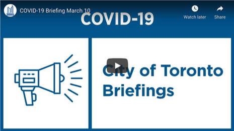 City of Toronto COVID-19 Briefing | March 10