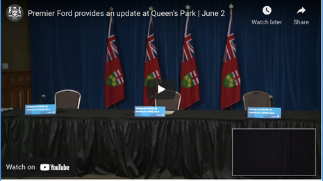 Premier Ford provides an update at Queen's Park   June 2