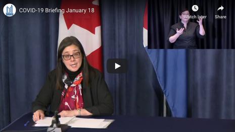 City of Toronto COVID-19 Briefing | January 18