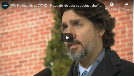 Trudeau Update Canadians on COVID-19 Pandemic | January 12