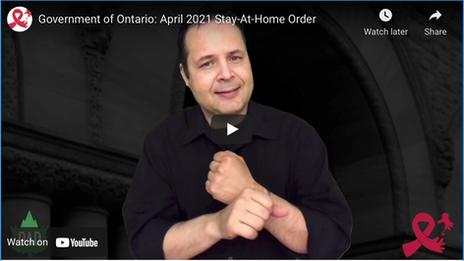 Government of Ontario: April 2021 Stay-At-Home Order