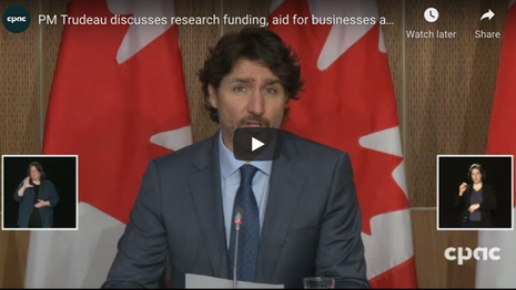 Trudeau Update Canadians on COVID-19 Pandemic | March 03