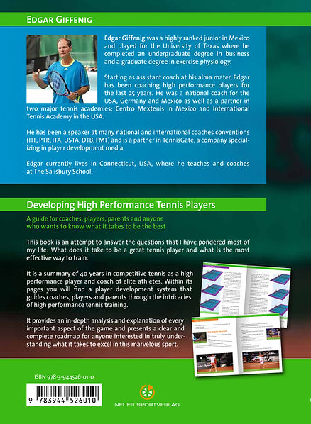 Back Cover Developing High Performace Players