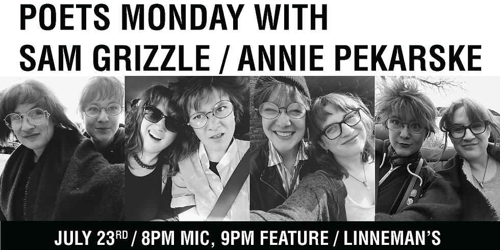 Sam + Annie at Poet's Monday