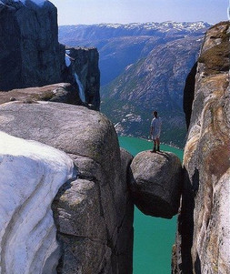 Kjaeragbolten, Ouest de la Norvège