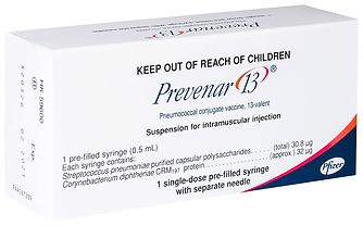 13價肺炎球菌結合疫苗(兒童)