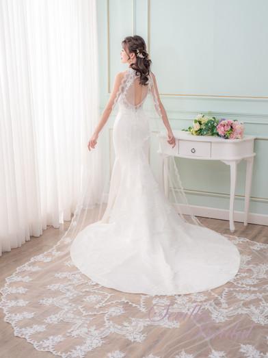 透視入膊款緞布魚尾婚紗4.jpg
