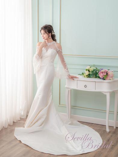 透視入膊款緞布魚尾婚紗3.jpg