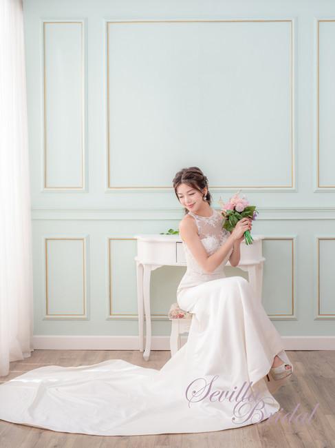 透視入膊款緞布魚尾婚紗1.jpg