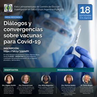 """Mesa redonda: """"Diálogos y convergencias sobre vacunas para Covid-19"""""""