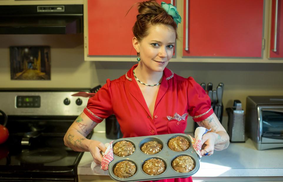 Wonky Vegan Baker in Red Dress-6.jpg