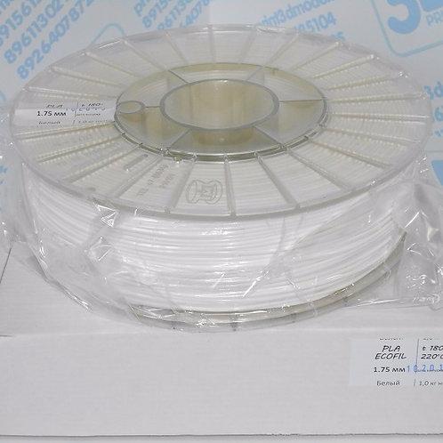 PLA пластик 1.75 мм  Белый 1 кг