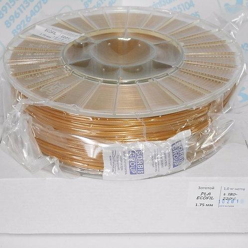 PLA пластик 1.75 мм Золотистый 1 кг