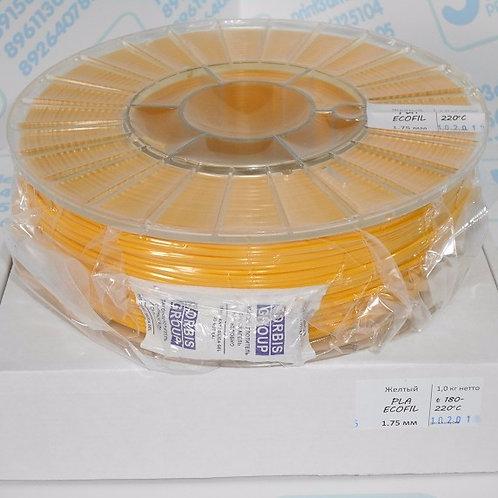 PLA пластик 1.75 мм  Желтый 1 кг