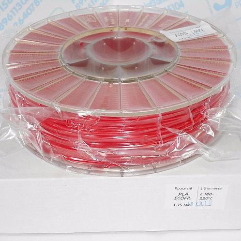 PLA пластик 1.75 мм  Красный 1 кг