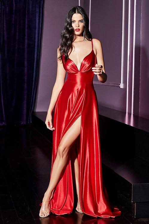 CD Freya Silk Gown Red
