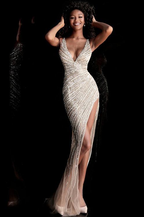 J Carat Gold Gown
