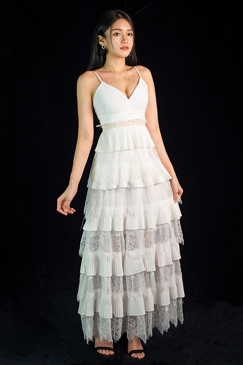 Juniper Tiered White Dress