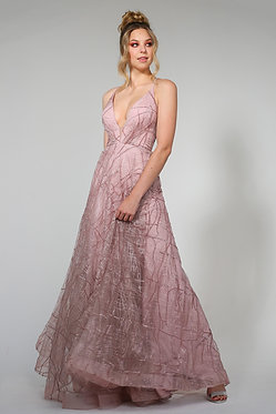 H Aphro Flare Gown Tearose