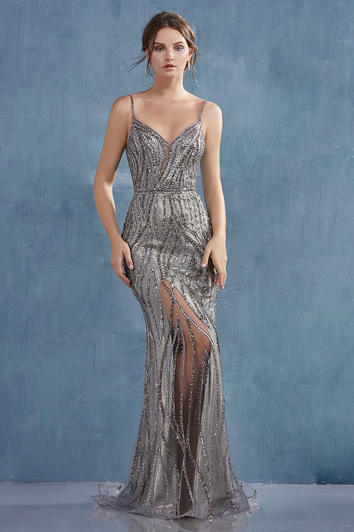 AL Alexa Flame Silver Gown