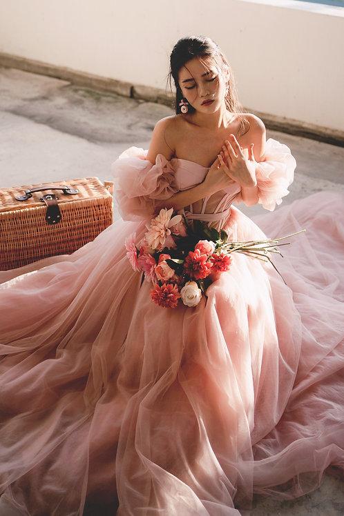 S Lovell Romance Bardot Gown