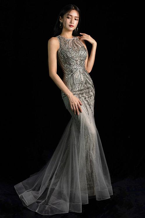 S Miranda Halterneck Tulle Gown