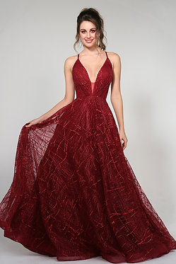 H Aphro Flare Gown Red
