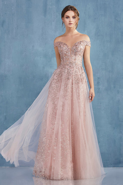 AL Ambrosia Rose Gold Gown