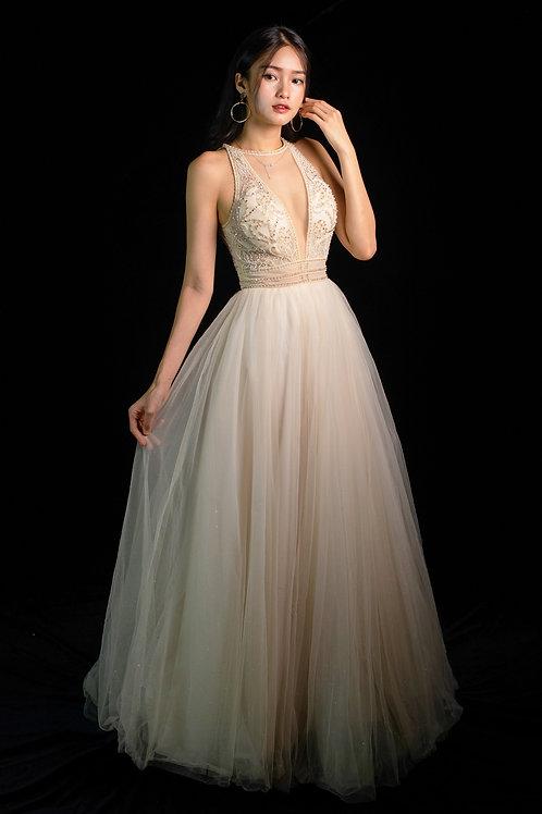 S Queenie Halterneck Gown