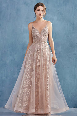 AL Arianna Rose Gold Gown