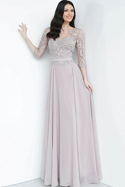 J Mauve Quarter Sleeve Gown