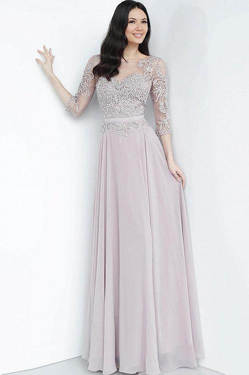 J Mauve Quarter Sleeve Gown