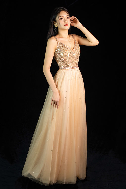 Eira Gold Gown