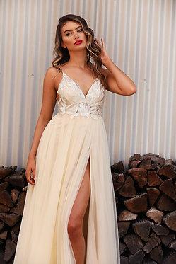JA Cortadella Champagne Gown