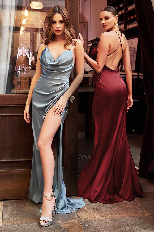 CD Dana Crossback Gown Robin Blue