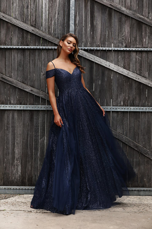 JA Dale Navy Gown