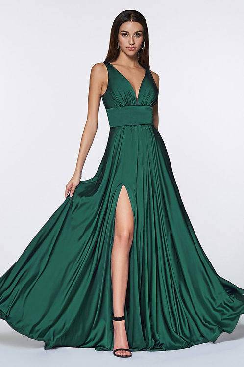 CD Adira Silk Gown Emerald