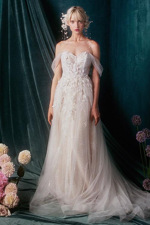 AL Julia White Floral Gown