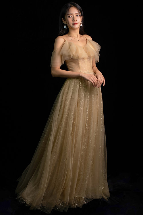 S Dione Gold Gown