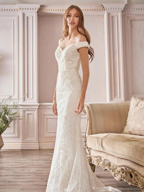 CD Diamond Sheath OS Bridal Gown