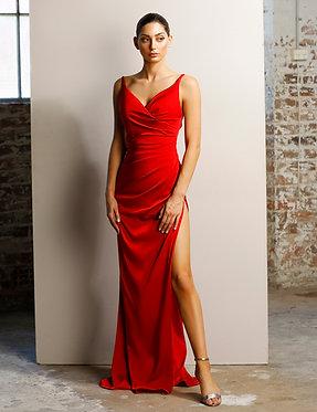 JA Keren Red Gown