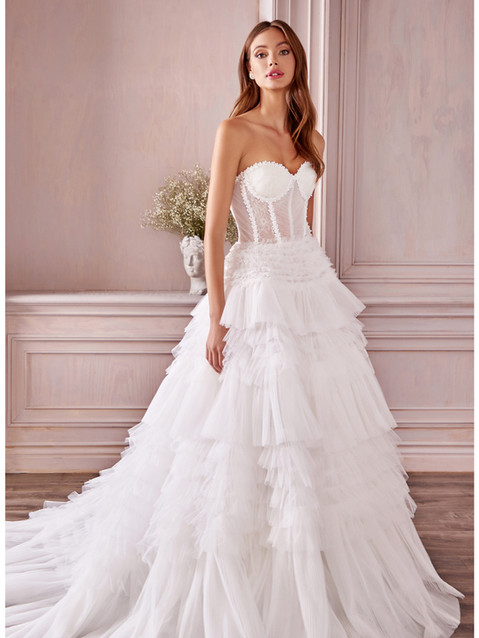 AL Princessa Ruffle Bridal Gown