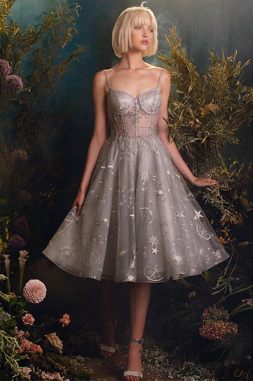 AL Constellation Tulle Midi Dress