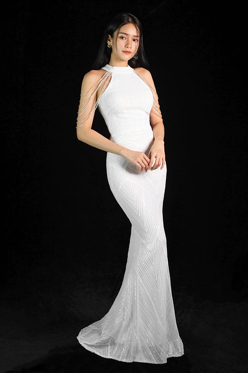 Gatsby White Gown