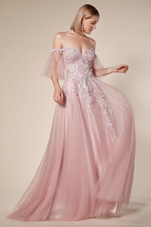 AL Sakura Flutter Sleeves Gown