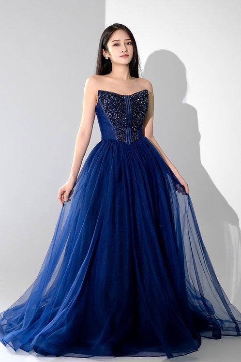Maris Blue Sweetheart Gown