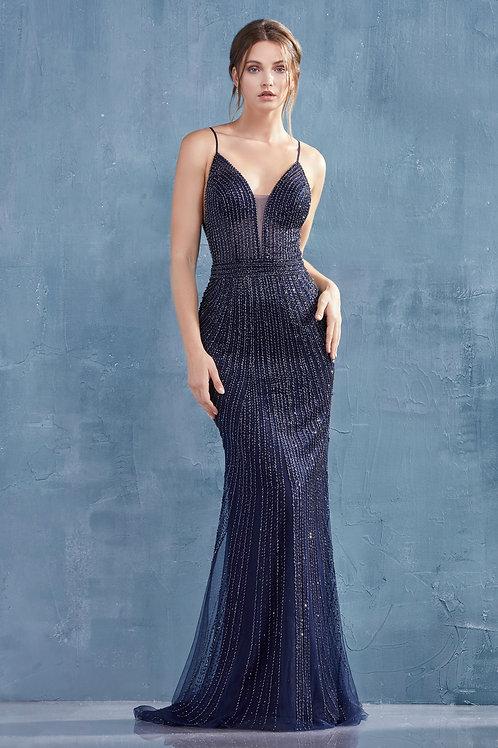 AL Mara Navy Gown