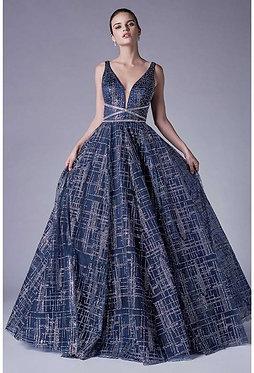 AL Glitteratti Navy Ball Gown
