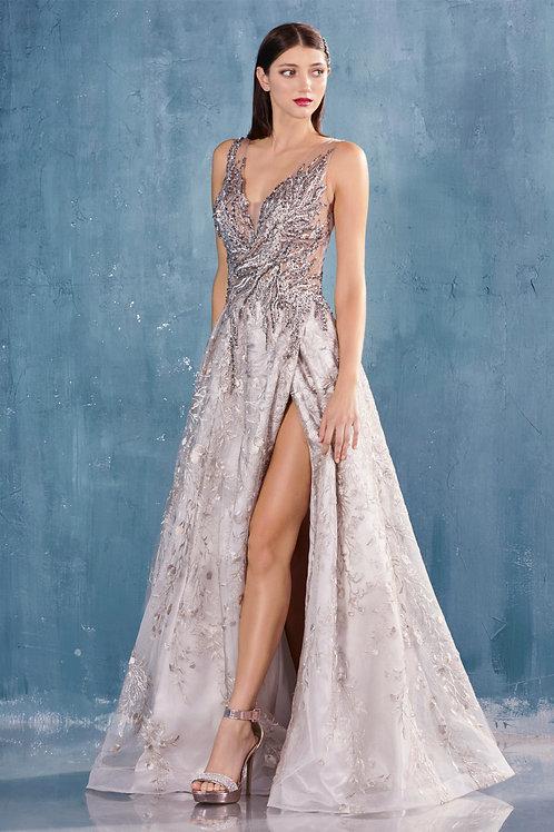 AL Krystina French Grey Gown