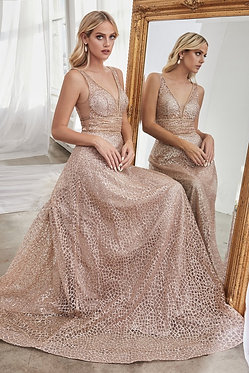 CD Glamour Rose Gold Gown